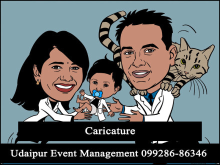 CaricatureActivity-ChildBirthdayPartyGame-Udaipur-Rajasthan-India