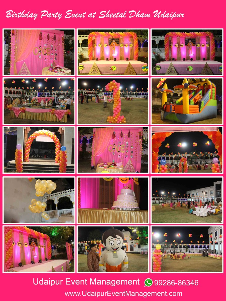 balloondecoration-stagesetup-sound-cartooncharacters-birthdayparty-udaipur