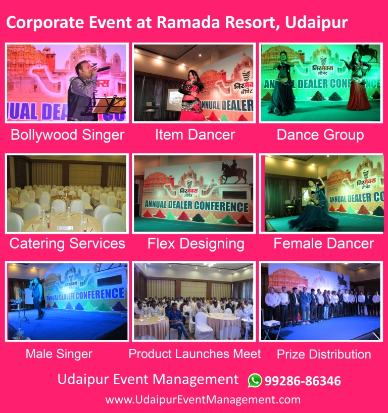 Corporateevent-Tentdecoration-cateringservices-stagesetup-flexdesignpasting-Udaipur-Rajasthan