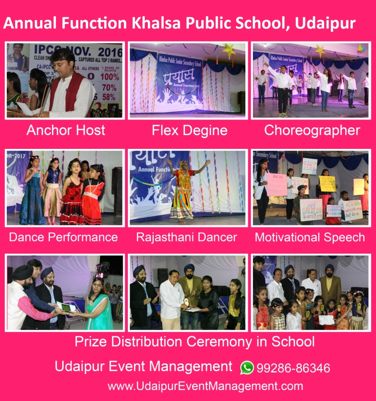 Schoolevent-Anchoring-Tentdecoration-flexdesignpasting-Udaipur-Rajasthan